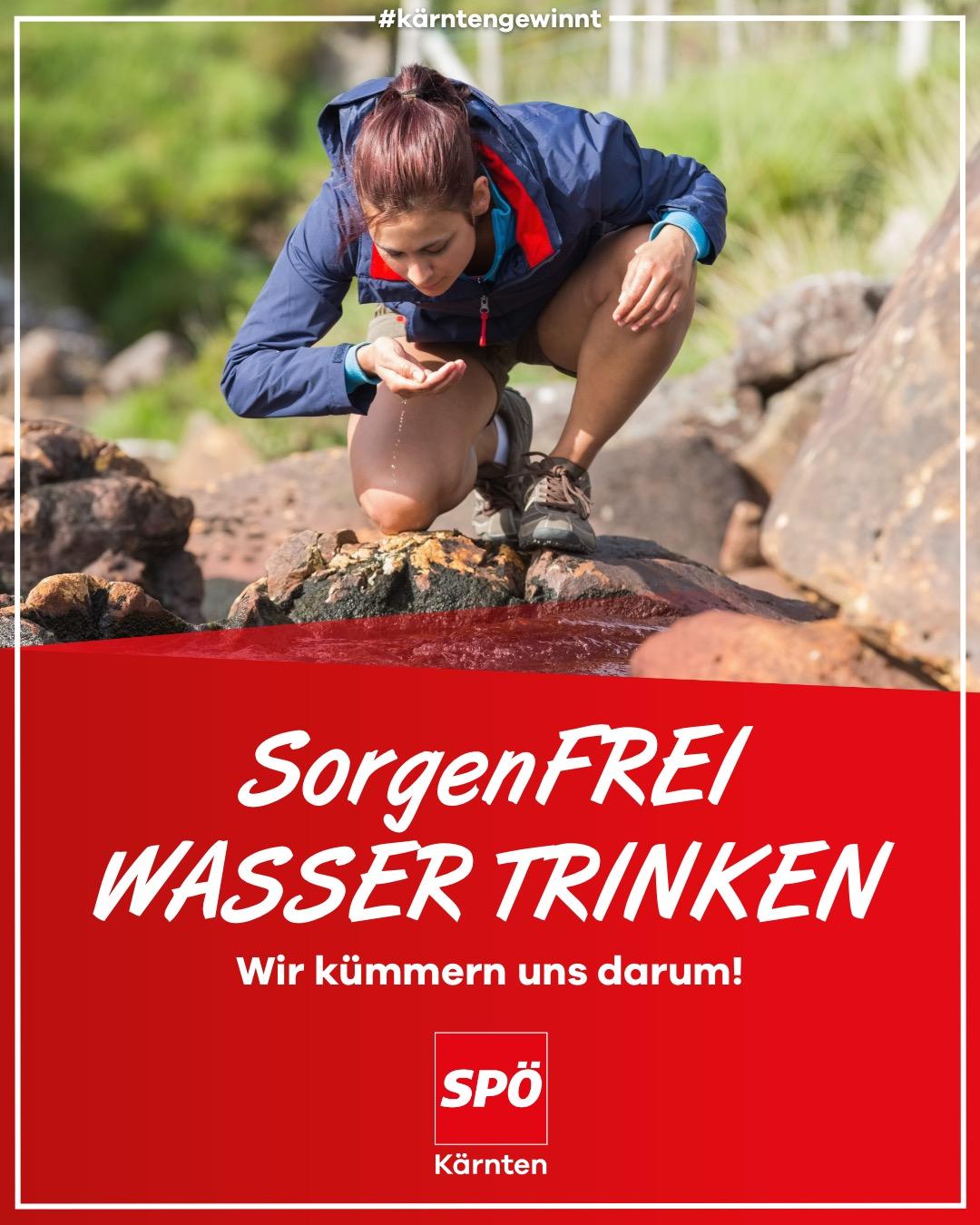 Sorgenfrei Wasser trinken in Kärnten